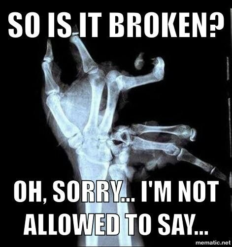 So is it broken?