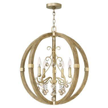 Abingdon Four Light Single Tier Chandelier Globe Chandelier Fredrick Ramond Foyer Pendant