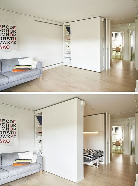 From Office to Bedroom with the Slide of a Storage Wall #UBHOMETEAM #multipurposedroom