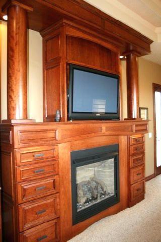 Electric Fireplace Dresser Master