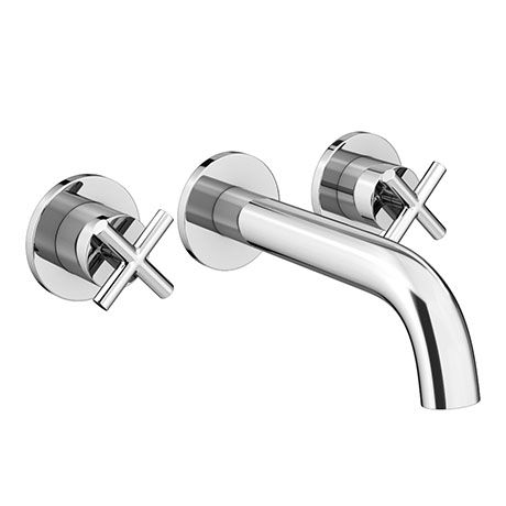 Pablo Crosshead Chrome Wall Mounted 3th Basin Mixer Tap Victorian Plumbing Uk With Images Basin Mixer Taps Wall Mounted Taps Wall Mounted Bath Taps