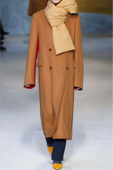 Roksanda Nate Zweifarbiger Mantel Aus Einer Woll Kaschmirmischung Net A Porter Com Kaschmir Mantel Und Seide