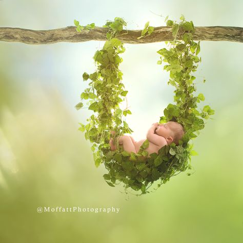 Matilda {1 week new} sound a sleep in her vine hammock.