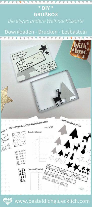 Weihnachtskarten Zum Selber Drucken.Sag Es Durch Die Box Die Etwas Andere Weihnachtskarte