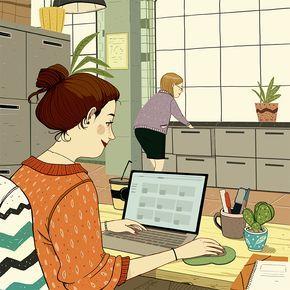10 Ingredients Pour Etre Heureuse Au Travail Coup De Pouce Job Character Disney Characters