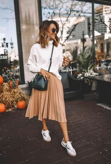 14 Ways to Style Midi Skirt in Fall