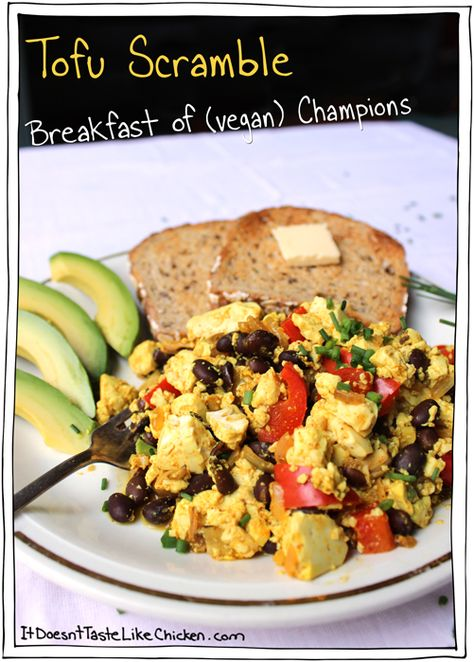 Tofu Scramble Breakfast Of Vegan Champions