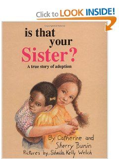 This is a great book that incorporates two issues that children often have to deal with: adoption and racial issues. The book, told in the first person, focuses on two adopted children of two different cultural backgrounds. Highly recommended--it will teach your children that not everybody in the world is the same. Great for families who are multi-racial through domestic, fostercare, or international adoption - age 4-10 yrs