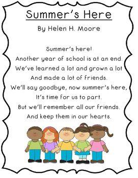 June Poetry Kindergarten & First Grade | Poems for students, Kindergarten  poems, First grade poems
