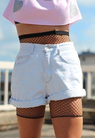 Fishnet mesh under shorts 3