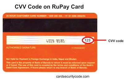 Pin on CVV Number and CVV Code on Credit Card and Debit Card