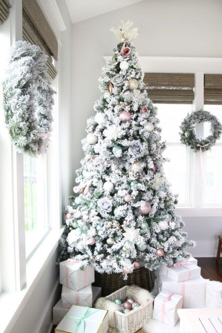 Pastel Christmas Decor In The Sunroom Christmas Staircase