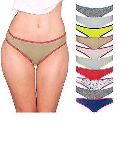 6-Pack WOMEN/'S COTTON SOFT Strings String Culotte Sous-vêtements S//M//L