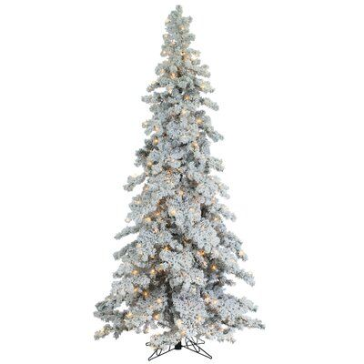 The Holiday Aisle 9 Green Pine Artificial Christmas Tree With 650 Clear White Lights Spruce Christmas Tree Christmas Tree Lighting Pre Lit Christmas Tree