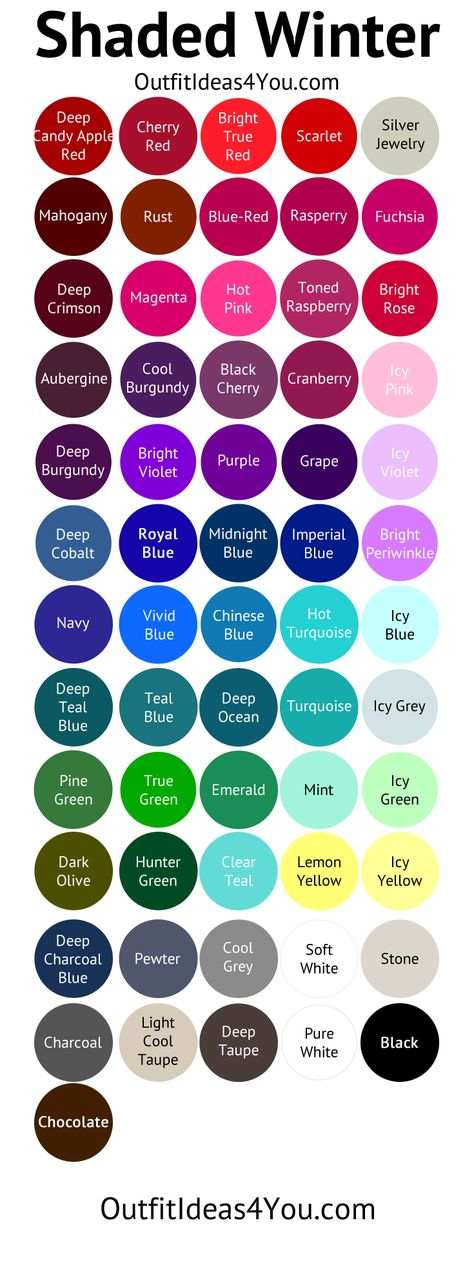 Deep Winter Color Palette (Shaded Winter)