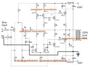 Simple 100 Watt Inverter Circuit Using 2n3055 Power Transistors Electronic Circuit Projects Circuit Projects Circuit