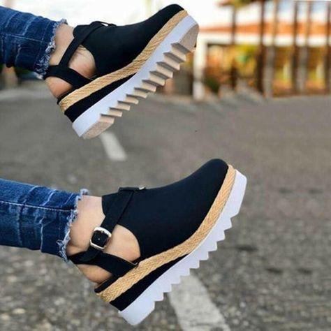 Summer Women Sandals Sandals Shoes Summer Fashion Women Casual Shoes - black / 6.5