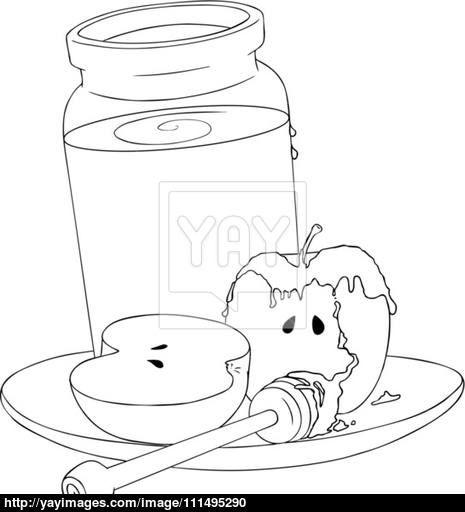 Honey Jar Coloring Page Plantovizor Coloring Pages Rosh