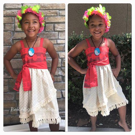 NOVEMBER delivery Moana dress for birthday parks party