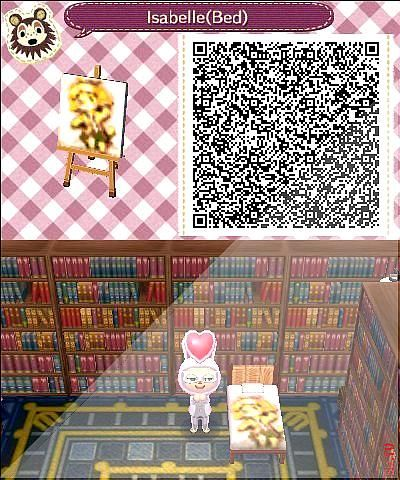 Isabelle Bedding Animal Crossing New Leaf Qr Code Based On A Design Found With Animal Crossing Qr Codes Animal Crossing Animal Crossing Qr