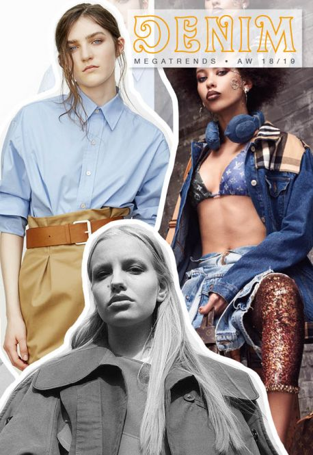 Discover the new Fall Winter 2018-19 DENIM mega trend Directions by 5forecaStore Fashion Trends forecasting