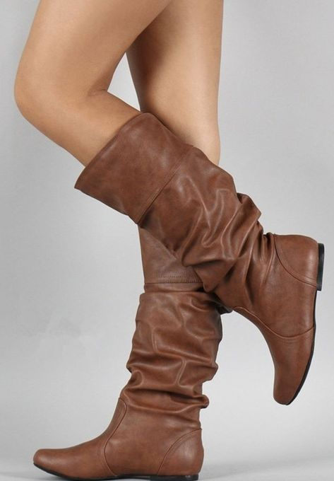 7f00d17d71ab5 Ruffles Mid-Calf Boots Low Heel Shoes in 2019
