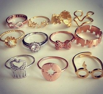 jewels jewelry gold jewelry hipster jewelry fashion jewelry ring rings and tings gold ring silver ring bronze ring feathers bows diamonds stars sunglasses flowers swag