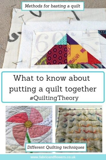 Quiltingtheory How A Quilt Is Put Together Basting A Quilt Quilts Quilt Layers