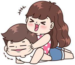 Boobib Cute Couples Vol.7 – LINE stickers | LINE STORE