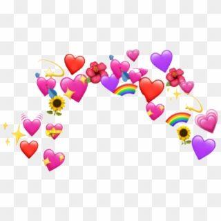 Heart Sticker Emoji Heart Crown Png Transparent Png In 2021 Heart Emoji Stickers Heart Emoji Pink Heart Emoji