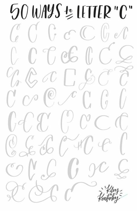 50 ways to letter c #HandwritingTips