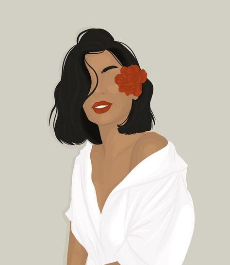 Illustration Art Drawing, Woman Illustration, Portrait Illustration, Digital Illustration, Design Illustrations, Fashion Illustrations, Portraits Illustrés, Art Afro, Abstract Face Art