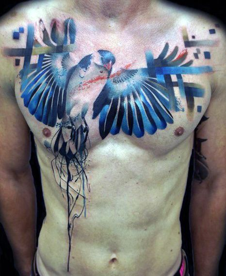 Top 80 Best Abstract Tattoos For Men Artistic Designs Tattoos For Guys Chest Tattoo Men Cool Chest Tattoos