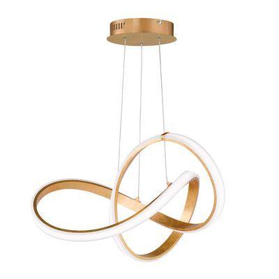 Lampadario Glamour Indigo Led Integrato Oro Bianco Trasparente In Metallo L 55 Cm Wofi Prezzo Online Leroy Merlin Lampadario Led Illuminazione A Parete