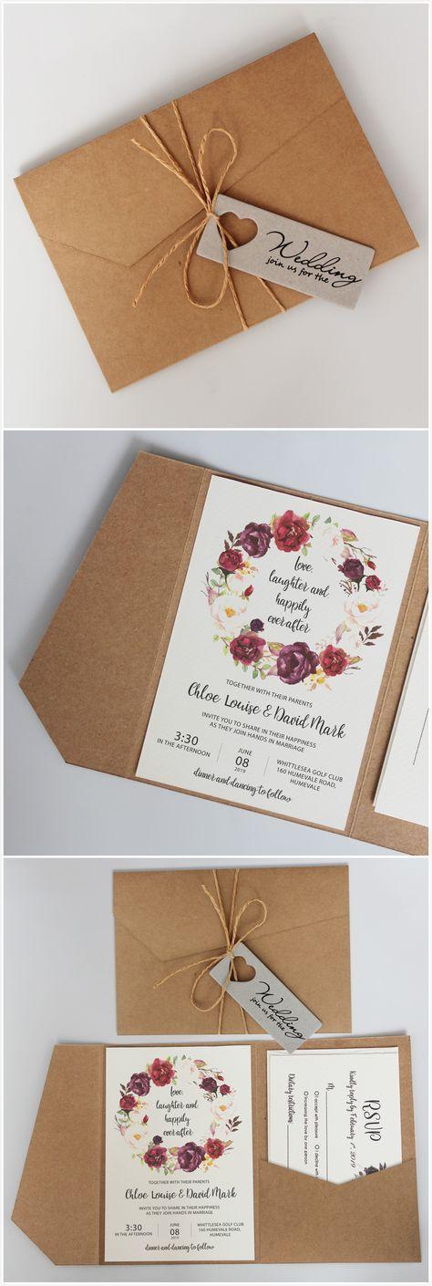 Vintage Pocket Wedding Invitations Rustic Invitation Cards Vintage Wedding Invitation Cards Wedding Invitations Rustic Vintage Wedding Invitations Diy Rustic