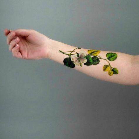 Tatuaggi temporaneo Fiore di Cappero bianco / Simbolo di Bellezza / Regalo per Ragazze con pollice verde / Parla il linguaggio dei fiori