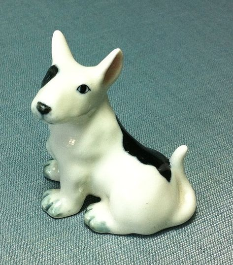 Pit Bull Terrier White Dog ANGEL Tiny One Ornament Figurine Statue
