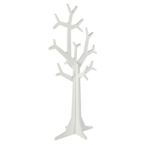 Standgarderobe 'Baum' weiß H148cm