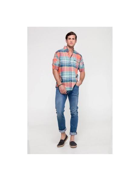 Camisa De Cuadros Az Nar Verd De Altonadock Para Hombre Camisa De Cuadros Camisa Para Hombre Camisas