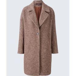 Herbstmode Fur Damen Oversize Mantel In Braun Beige Gemustert
