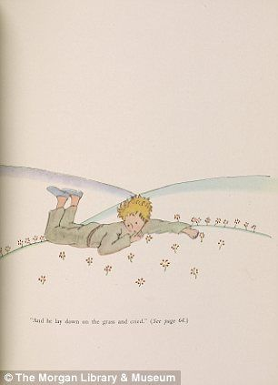 Feeling alone: In 'He laid down and cried' Mr Saint-Exupéry's consummate character is seen weeping among nature