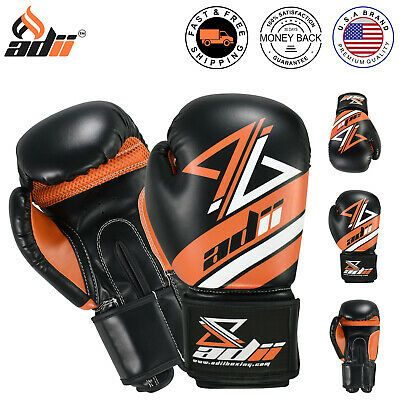 ADii™ SKINTEC™ Leather Training Boxing Gloves Sparring MMA Muay Thai Kickboxing