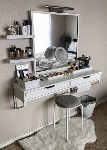 Small Closet Desk Ideas Makeup Vanities 31 Ideas Makeup Closet With Images Small Bedroom Decor Makeup Room Decor Makeup Table Vanity