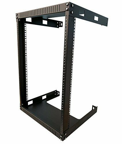 Kenuco 15u Wall Mount Open Frame Steel Network Equipment Rack 17 75 Inch Deep Kenuco Wall Mount Open Frame Frames On Wall