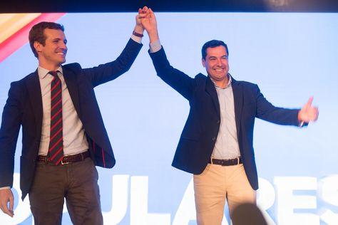Pablo Casado y Juanma Moreno Bonilla