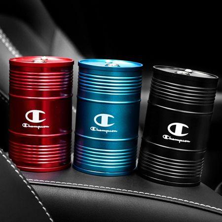 チャンピオン 車用品 灰皿 ドラム缶型 大容量 灰皿 車 アクセサリー