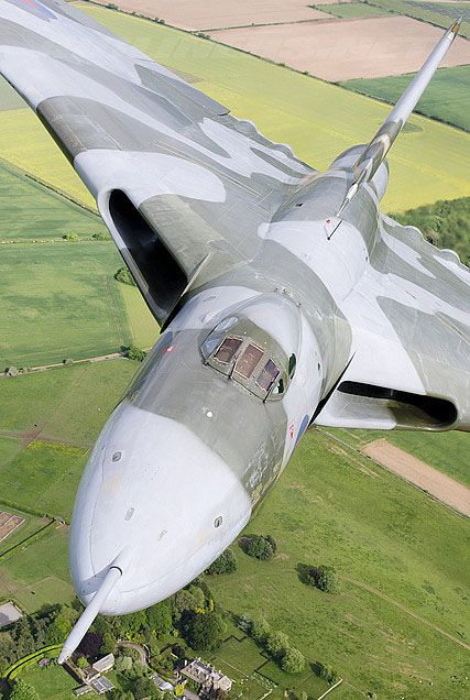The British Vulcan Bomber - I got to watch one of these big incredible planes flying in the UK in the early 90s