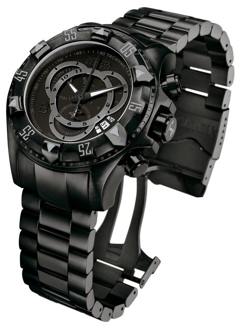 Invicta Men's Chronograph Watch - Excursion Reserve Black Steel Bracelet   6474