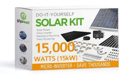 15kw Solar Panel Installation Kit 15000 Watt Solar Pv System For Homes Complete Grid Tie Systems Diy Solar Panel Solar Kit Solar Power Panels