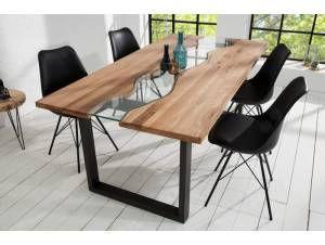 Belle Et Grande Table A Manger 200 Cm En Chene En 2020 Salle A Manger Bois Massif Table A Manger Table Salle A Manger